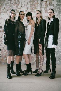 Backstage at Ann Demeulemeester Cyberpunk Fashion, Emo Fashion, Gothic Fashion, Paris Fashion, Gothic Corset, Gothic Lolita, Gothic Girls, Punk Girls, Raver Girl