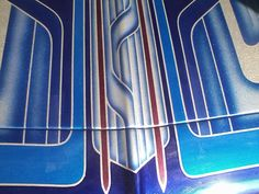 The hood of a car...#kandyPaint #custom #cars #graphics #handcrafted