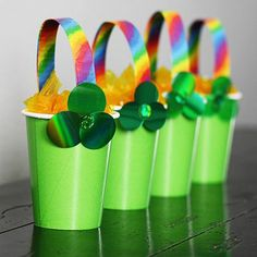 End of the Rainbow Loot Buckets by Amanda Formaro for Spoonful.com #StPatricksDay
