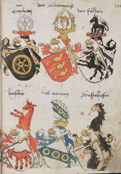 Wappenbuch des St. Galler Abtes Ulrich Rösch Heidelberg · 15. Jahrhundert Cod. Sang. 1084  Folio 246