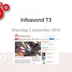 Infoavond T3 Maandag 1 september 2014   Mentor • T3a – mevr. Dreessen • T3b – mevr. Lieverse • T3c – dhr. Mulders • T3d – mevr. 't Hart   Mentor als spi. http://slidehot.com/resources/t3-infoavond-algemeen_1415_web.65839/