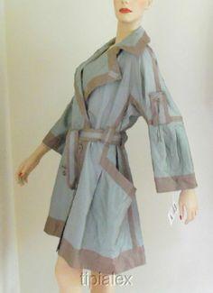 $3950 New Auth Gorgeous Issey Miyake Signature Silk Blend Jacket Coat Sz 2 M L   eBay