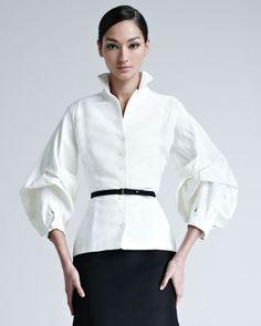 Silk Faille Blouse by Carolina Herrera at Neiman Marcus.