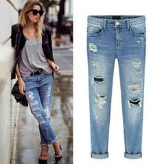 d79fb22df46 New arrival vintage ripped jeans for women plus size fashion new ...