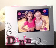 """Dance or Dance Teacher Appreciation team ballet jazz hip hop recital gift handmade magnetic picture frame holds 5"""" x 7"""" photo 9"""" x 11"""" size. My frames are magnetic backed, covered with beautiful paper, and come with 3 embellished magnets. All frames are 9 x 11 and have a velvet easel back for free standing display or can be hung by a beautiful attached ribbon. Each frame is great for 1 to 3 pictures, notes, or recipes. You can put your pictures, notes or recipes where ever you want and…"""