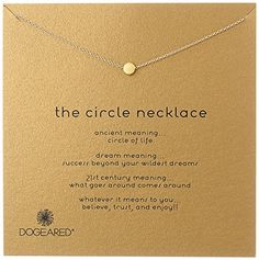 the circle necklace gold dipped Circles have been a powerful symbol of success rebirth and creation for ages. Our circle necklace is delicately hand-cast to be a graceful symbol of the good things cir...