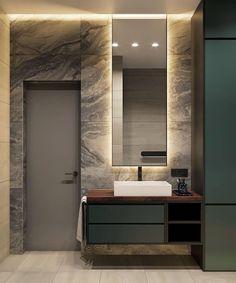 Modern Luxury Bathroom, Bathroom Design Luxury, Washroom Design, Toilet Design, Baths Interior, Home Interior Design, Loft House Design, Bathroom Toilets, Aesthetic Room Decor