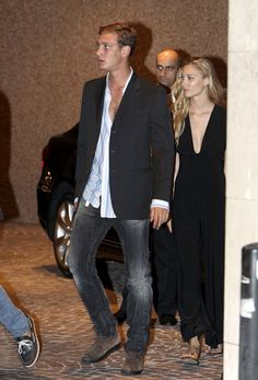 Pierre Casiraghi + Beatrice Borromeo - Royal Family of Monaco at an Eagles Concert