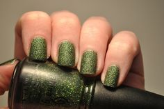 China Glaze 'Winter Holly' with no top coat. by TartanHearts, via Flickr Holiday Joy 2012