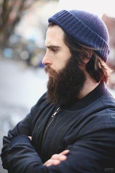 full thick dark beard bushy beards mustache bearded man men mens' style fall winter #beardsforever