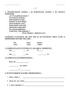 6654510 fise-limba-romana-clasa-i Moise, Sheet Music, Activities, Google