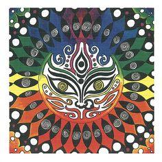 Durga Mandala lsd blotter art by Chaoticat Creations Cat Mandala, Indian Patterns, Durga, Cool Cats, All About Time, Deviantart, Cool Stuff, Artwork, Artist