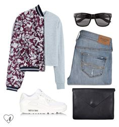 """""""#49"""" by pepsicoola ❤ liked on Polyvore featuring NIKE, MANGO, Markus Lupfer, Abercrombie & Fitch, Vero Moda and Just Female"""