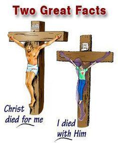 I have been crucified with Christ and I no longer live, but Christ lives in me…  ~  Aku telah disalibkan dengan Kristus; namun aku hidup, tetapi bukan lagi aku sendiri yang hidup, melainkan Kristus yang hidup di dalam aku…  (Gal 2:19b-20a)