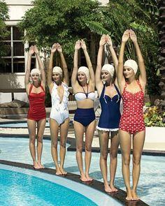 natation synchronisée année soixante