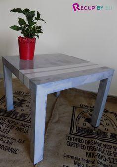Table basse carrée basique revisitée en meuble design : Meubles et rangements par recup-by-eli-2016