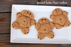 peanut butter bear cookies
