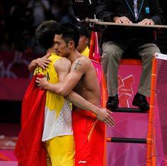 Lin Dan and Lee Chong Wei #friendship