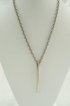 Dagger ‐ Silver ‐ SS cable chain — Linda Dillon