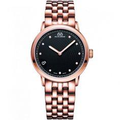 88 Rue Du Rhone Ladies' Rose Gold Plate Diamond Set Watch 87WA120017