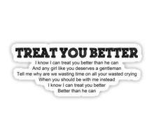 TREAT YOU BETTER Sticker