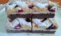 Dvojfarebný tvarohový koláč s černicami - Recept