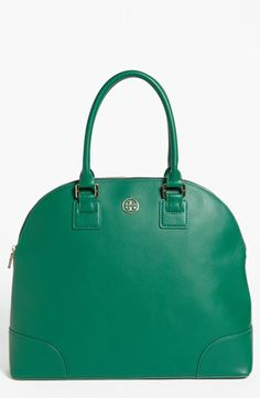 Tory Burch 'Robinson' Dome Satchel ahhhhhh another fall must have for me , great bag, you can carry this through any season it's awesome!!!!! Great color!!