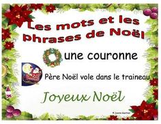 This file contains 23 illustrated French Christmas words and phrases in a word wall format and 18 illustrated sentences using those words in sentences. It is a visual way of introducing French vocabulary this holiday season. FREE