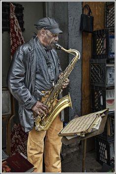 Street Musician - New York by adi loupo, via 500px