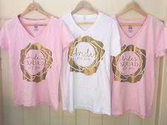 bride and bride squad graphic t-shirts