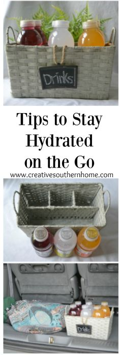 Keep Water bottles from rolling around your car! Plus hydration tips. AD #tastehydration