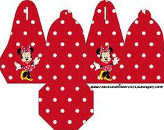 minnie red black yellow and polka dots free printable boxes you Printable Box, Free Printables, Mickey E Minie, Red Minnie Mouse, Paper Box Template, Box Templates, Dots Free, Cute Box, Disney Crafts