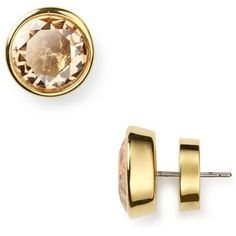 Michael Kors Gold Colorado Stud Earrings ($45) ❤ liked on Polyvore