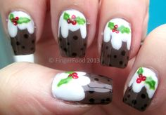 FingerFood christmas #nail #nails #nailart