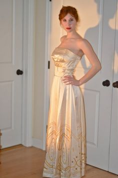 Vintage 1940s Evening Gown Wedding Dress | eBay....yes.  Someone buy this right now.