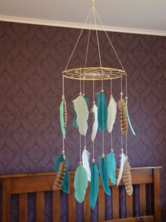 Baby Nursery Mobile Woodland Nursery by FeatherDreamcatchers