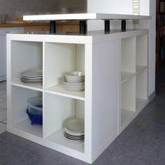 Keuken eiland van Ikea kastjes