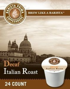 Barista Prima Coffee DECAF ITALIAN 1 Box of 24 KCups * Continue to the product at the image link.