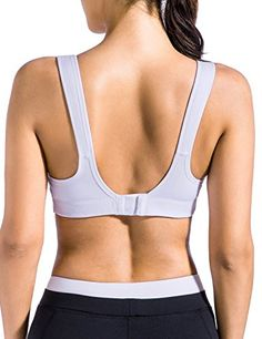 31b8396d3b SYROKAN Women s Bounce Control Wirefree High Impact Maximum Support Sports  Bra. Buy Now from Amazon
