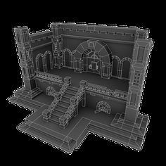 Example of a dungeon I can use for reference on the wireframe. Game Environment, Environment Concept Art, Blender 3d, 3d Pixel, Pixel Art, Game Level Design, Maya Modeling, Polygon Modeling, Drawn Art