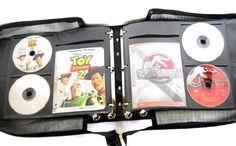 DVD Storage Binder CD Blu Ray Album Book 240 Disc Holder Black Box Case Sleeves #ArtisanDecoStoreMediaStorage