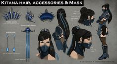 Mortal Kombat X: Fatal Gemini Pack *FAN MADE Concept Art* Kitana A skin pack I thought of for Kitana and Mileena for the upcoming Mortal Kombat X! Kitana's skin is klassicaly inspired but I made it so. Kitana Costume, Kitana Cosplay, Mortal Kombat Costumes, Mortal Kombat Cosplay, Character Concept, Character Art, Concept Art, Character Design, Character Sheet