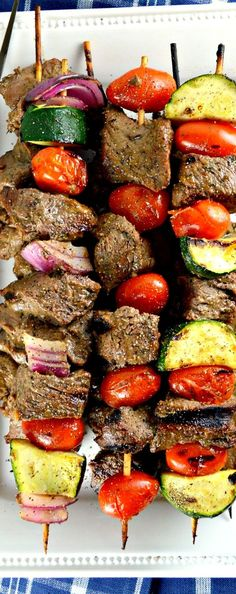 Kabob Shish Kabob-tender, flavorful chunks of delicious marinated beef grilled to perfection.Shish Kabob-tender, flavorful chunks of delicious marinated beef grilled to perfection. Marinated Beef, Grilled Beef, Grilled Chicken, Grilling Recipes, Beef Recipes, Cooking Recipes, Beef Chunks Recipes, Vegetarian Grilling, Healthy Grilling