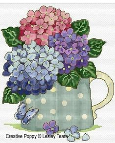 Buy Needlework and cross stitch charts - by Lesley Teare Cross Stitch Needles, Cross Stitch Kits, Counted Cross Stitch Patterns, Cross Stitch Charts, Cross Stitch Designs, Cross Stitch Embroidery, Hand Embroidery, Modern Cross Stitch, Cross Stitch Flowers
