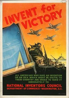 WWII Poster - Invent for Victory