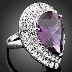Wei Hua Elegant European Fashion Gemstone Diamonade Ring