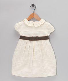 Fina Ejerique Cream Pleated Dress - Infant & Toddler