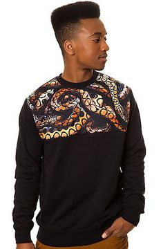 The Python Sweatshirt in Black by Crooks and Castles