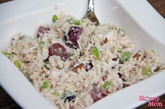 Skinny Chicken Salad- I also use a few drops of mustard and lemon juice (no calorie addition)  This is the recipe I've used forever, nice to know the calorie count isn't bad :)