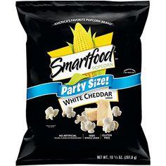 Smartfood Popcorn, Party Size White Cheddar, oz (Packaging May Vary) - Food White Cheddar Popcorn, Cheese Popcorn, Popcorn Snacks, Flavored Popcorn, White Cheddar Cheese, Smartfood Popcorn, Air Popped Popcorn, Sandwich Cookies, Teenage Room Decor